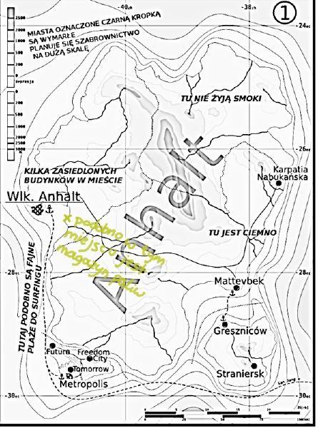 Mapa Anhaltu z czasów ponownego odkrywania go w 2011 roku