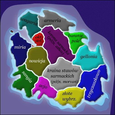 Dawne prowincje Księstwa Sarmacji