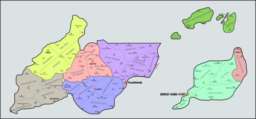 Mapa administracyjna Wandystanu