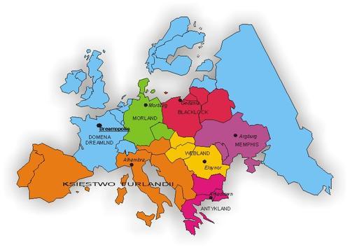 Mapa Dreamlandu z 1999 r.