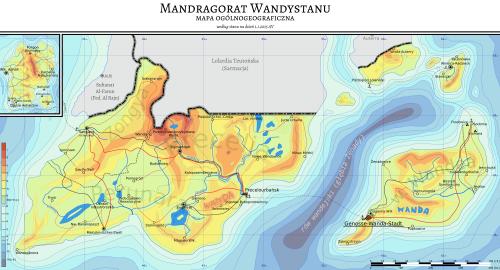 Mapa fizyczna Wandystanu