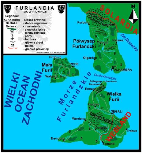 Mapa Furlandii z 2001 r.