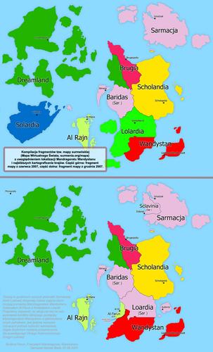 Mapa poszerzenie granic Wandystanu z 2007 r.