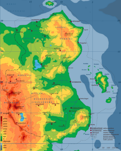 Mapa fizyczna Scholandii
