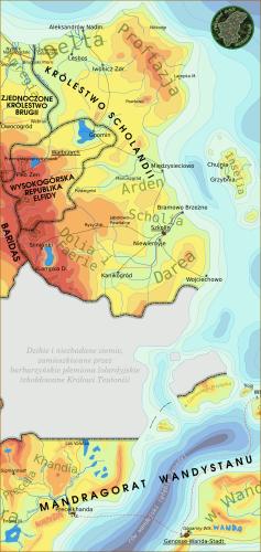 Mapa Scholandii w wersji gnomiej