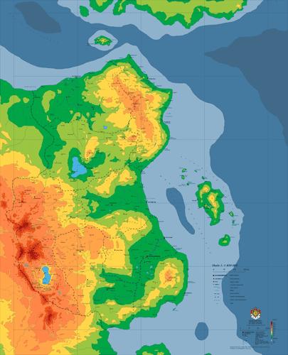 Mapa ogólnogeograficzna Scholandii