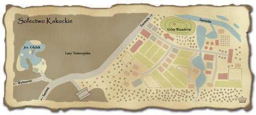 Mapa Sołectwa Kakuckiego