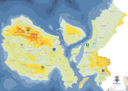 Mapa administracyjna Surmenii